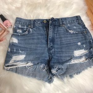 abercrombie and fitch High rise Shorts